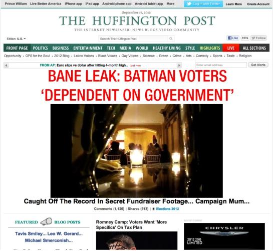 BANE LEAK: BATMAN VOTERS 'DEPENDENT ON GOVERNMENT'
